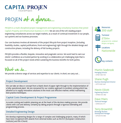 Capita PROjEN Engineering Design & Project Management